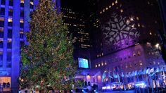 Rockefeller Plaza to visit the awe-inspiring beauty of this 80-foot-tall Christmas tree, meticulously decorated with 45,000 LED lights in NYC