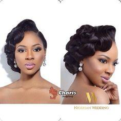 Nigerian wedding black bridal hair ideas and inspiration 44