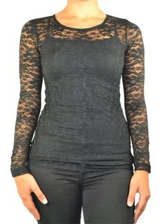 143Fashion Long Sleeve Lace Top