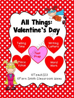 Math and literacy activities with a Valentine's Day theme $