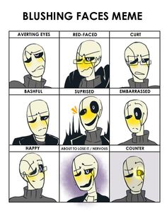 Undertale!gaster His face is so yellow goodness