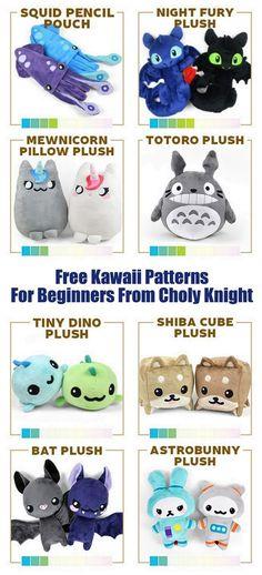 DIY Kawaii Free Patterns for BeginnersFor more Kawaii DIYs on...