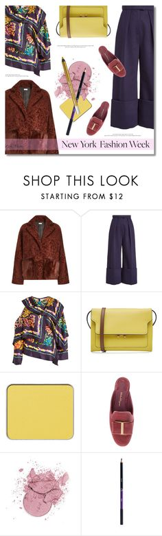 """""""What to Wear to NYFW ... 2017"""" by greta-martin ❤ liked on Polyvore featuring Utzon, Delpozo, Peter Pilotto, Marni, shu uemura, Sigma, Urban Decay, StreetStyle, NYFW and contestentry"""