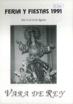Feria y Fiestas en Vara de Rey (Cuenca), en honor de la Virgen de la Asunción. Del 14 al 18 de agosto de 1991. Campeonato de Matarratas. #Fiestaspopulares #VaradeRey #Cuenca