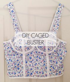 DIY Caged Bustier Top Using a Bra- Inspired by Triangl | Handmade with Paige