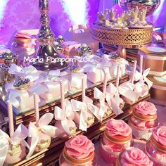 Pretty treats at a princess birthday party! See more party planning ideas at CatchMyParty.com!