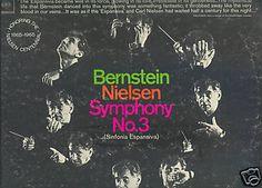 NIELSEN SYMPHONY #3 LP Leonard Bernstein Royal Danish