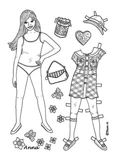 Karen`s Paper Dolls:  ︵‿✿  Anna is a sweet school girl.