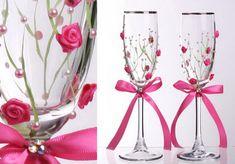Украса на сватбени чаши | Домашна работилница | хоби и свободно време