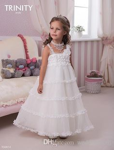 F07 Spaghetti Lace Ankle Length Tulle A-line Baby Girl Birthday Party Christmas Dresses Children Girl Party Dresses Flower Girl Dresses Online with $42.07/Piece on Weddingmall's Store | DHgate.com