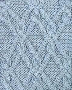 Ornate Lattice, another large, impressive cable pattern. It is located in the Cable and Twisted Stitches category.