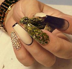 Nails made with weed in them-