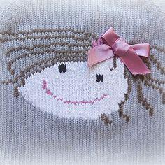 Knitting For Kids, Knitting Projects, Baby Knitting, Fair Isle Knitting Patterns, Knitting Stitches, Crochet Fruit, Knit Basket, Cross Stitch Baby, Baby Dress
