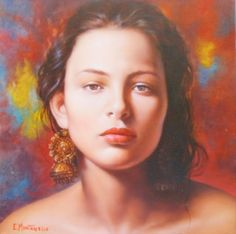 retratos-de-mujeres-pintadas......: Ennio Montariello Pintor Italiano Hiperrealista Retratos de Mujeres al Óleo....