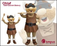 Ohlaf, from O Danish bakery was a truly unique human character for our mascot team. www.olympus-mascots.com