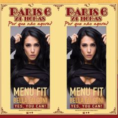 """""""Yes You Can"""" é a nova campanha do @paris_6 na academia Bioritmo em São Paulo! Adorei!!! Porque yes you can eat as opções do meu menu fit sem culpa  #paris6 #p6 #menufit  ___________________ """"Yes You Can"""" is the new campaign on my fit menu from @paris_6 in Brazil! Because yes you can eat anything from my menu with no guilt! Soon in Miami Beach guys. Get ready! Yay!!! by bellafalconi"""