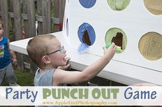 DIY kids party game idea!   This Party Punch Out is such a fun kid's game for any childs birthday party!