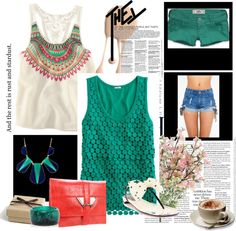 turquoise, created by samantha-edlin on Polyvore