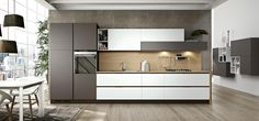 Kitchen Cabinets Without Handles - Linea Plana - Arredo3
