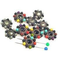 10 flower 2 Hole Slider Beads 11137