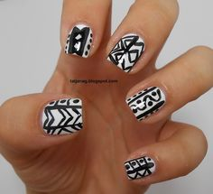 10 Days Summer Challenge - Day 6: Tribal nails
