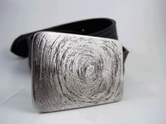 Scratched Out Belt Buckle  Etched Stainless Steel by RhythmicMetal, $60.00