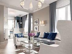 Дизайн интерьера квартиры в стиле американской неоклассики в ЖК «Империал», 77…