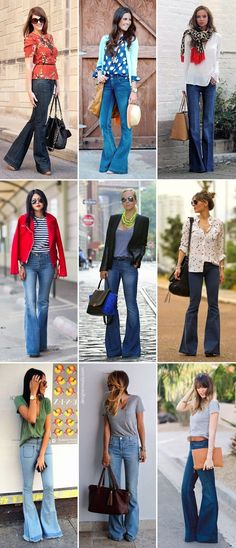 One pair of pants making many outfits. I usually like to have my shirts out and falling at the hip or A-line though. Love the layering of these tops. Mode Outfits, Fall Outfits, Summer Outfits, Casual Outfits, Dress Summer, Jean Outfits, Boho Fashion, Autumn Fashion, Fashion Outfits