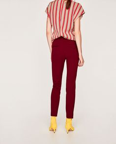 TROUSERS WITH BIRD PRINT AND FRONT DARTS-Smart-TROUSERS-WOMAN | ZARA United Kingdom