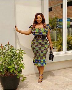 Ankara Splash Of Colors: See Gorgeous & Trendsetting Ankara Styles Latest Ankara Gown, Latest African Fashion Dresses, Ankara Dress, African Print Dresses, African Dress, Ankara Fashion, African Style, Fashion Skirts, African Wear