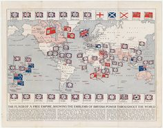The flags of a free empire, showing the emblems of British power throughout the world British Empire Flag, Pax Britannica, Beast Of Revelation, King In The North, Kingdom Of Great Britain, Throughout The World, United Kingdom, Catholic, Canvas Prints