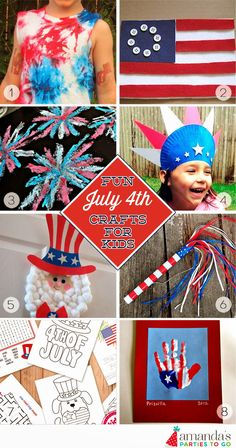 Activities for Kids for the July 4th holiday | Amanda's Parties TO GO