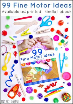 Own your copy of the brand new 99 Fine Motor Ideas book today! A great collection of fine motor crafts and activities for toddlers and preschoolers from 10 amazing kid bloggers!