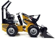 Mini loaders for precision work tasks, confined spaces and difficult terrains. Attachments available for the mini loaders will save you time and money. Small Tractors, Compact Tractors, Landscaping Equipment, Landscaping Software, Homemade Tractor, Tractor Accessories, Atv Trailers, Work Train, Video Game Rooms