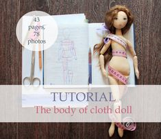 Body of cloth doll tutorial pattern pdf sewing by AnnaBalyabina