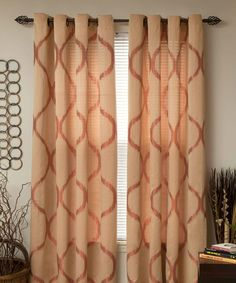 Take a look at this Rust Metallic Grommet Curtain Panel - Set of Two I bought at zulily today!