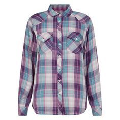 Pink and Blue Plaid Shirt