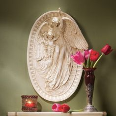 Angel of Grace Bas-Relief Wall Décor
