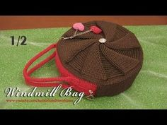 Crochet || 1/2 - Tutorial Windmill Bag - FPDC and BPDC (Front/ Back Post Double Crochet) - YouTube