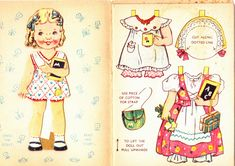 Mary had a little lamb   English paper doll book, Sandles 1950s