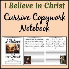 LDS Notebooking: I Believe in Christ Copywork Notebook - Cursive