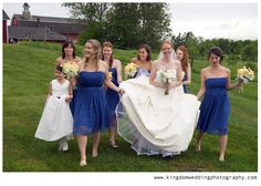 Kingdom Wedding Photography by Kat, bridesmaids in blue
