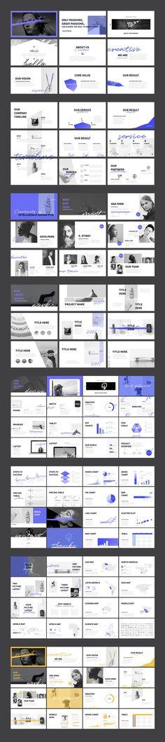 Cool simple layout, POINT Keynote Presentation Template #portfolio #business