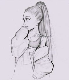 hope you like my drawling Girl Drawing Sketches, Girly Drawings, Art Drawings Sketches Simple, Pencil Art Drawings, Cartoon Drawings, Cool Drawings, Tumblr Drawings, Girl Sketch, Cute Drawings Of Girls