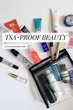 What's in my carry on: how to pack liquid toiletries   alittleleopard.com