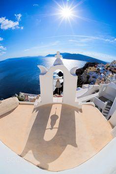 Bell tower in Oia - Santorini, Greece
