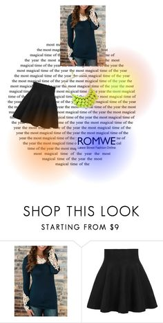 """""""Enjoy with Romwe.com"""" by nerabirparic ❤ liked on Polyvore featuring romwe"""
