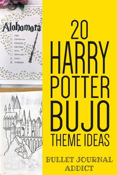 Bullet Journal Harry Potter Themes - Harry Potter Doodles and Art For Bullet Journal - Harry Potter Theme Layouts and Spreads For Bullet Journals Bujo Monthly Spread, Bullet Journal Monthly Spread, Bullet Journal Themes, Bullet Journal Layout, Bullet Journal Inspiration, Bullet Journals, First Harry Potter, Harry Potter Theme, Harry Potter Journal
