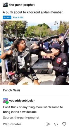 Punk punching out a klan member Tumblr Funny, Funny Memes, Hilarious, Cool Stuff, Random Stuff, Faith In Humanity Restored, Tumblr Stuff, Social Issues, Good People