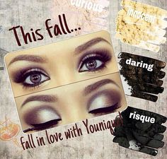Love this fall look! This Fall...fall in love with you Younique. Get the Look at www.amysglamorlashlook.com